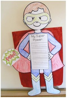 Great writing prompt for elementary kids during a superhero themed week classroom themes prompts and school Superhero Classroom Theme, Classroom Themes, Superhero Writing, Superhero Alphabet, Superhero School, Super Hero Activities, Super Hero Crafts, Class Activities, Super Hero Day