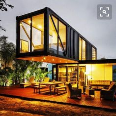 Container House - Shipping container homes utilize the leftover steel boxes used in oversea transportation. Check out the best design ideas here. Who Else Wants Simple Step-By-Step Plans To Design And Build A Container Home From Scratch? Building A Container Home, Container Buildings, Container Architecture, Container House Plans, Container House Design, Architecture Design, Sustainable Architecture, Container Cabin, Storage Container Homes