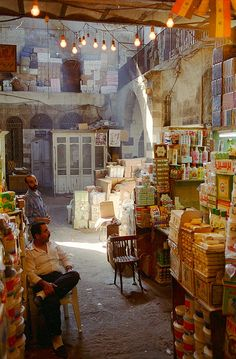 In the old market of Damascus.
