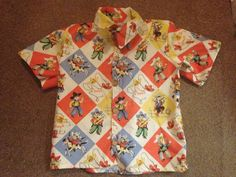 Another Keagan shirt - in the hipster view - in age 4 - made from michael Miller yippee fabric.