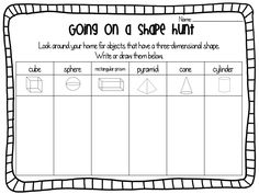 Ship Shape First Grade: 3D Shapes Freebie!