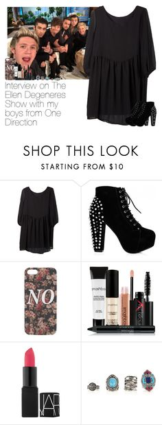 """Interview on The Ellen Degeneres Show with my boys from One Direction"" by haushuahusahuhushu ❤ liked on Polyvore featuring With Love From CA, Smashbox, NARS Cosmetics, OneDirection and 1d"