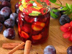 Śliwki w syropie Preserves, Salsa, Cherry, Food And Drink, Homemade, Fruit, Drinks, Drinking, Preserve