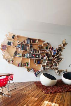 Thats Happy: American bookshelf http://pinterest.com/pin/167970261073735823/