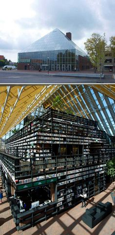 Book Mountain in Spijkenisse, the Netherlands! Sounds like a Disney World Ride that book-nerds would enjoy.