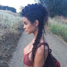 kartter mae viking braids mohawk in 2020 viking hair hair styles braided hairstyles kartter mae viking braids mohawk in 2020 viking hair hair styles braided hairstyles Braided Mohawk Hairstyles, Mohawk Braid, Pretty Hairstyles, Hairstyle Ideas, Twist Braids, Mohawk With Braids, Corn Row Hairstyles, Long Hair Mohawk, Curly Mohawk Hairstyles