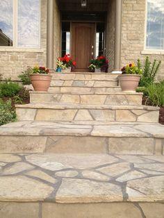 concrete front steps design ideas | Acid Stained Front Steps ...