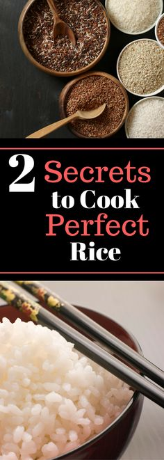 Cooking Hacks - 2 Secrets to Cook Perfect Rice