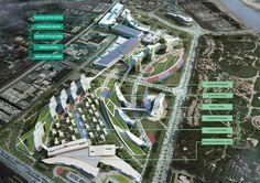 green roof hospital design - Tìm với Google