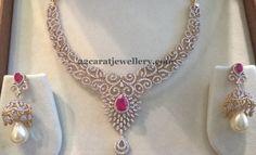 4 lakhs Diamond Set by Mahalaxmi Jewellers - Jewellery Designs