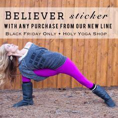 Free sticker with any purchase! holyyogashop.com or holyyoga.net #blackfriday #beyou #holyyoga #holyyogashop #lifestylewear #yogawear #christianclothing #believer