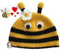 Gorro abeja a crochet, patrón gratis