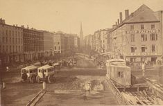 Earliest Known Photo of Wall Street, New York - 1860s
