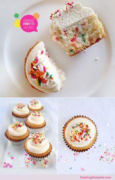 7/2013 - Homemade funfetti cake. Vanilla icing