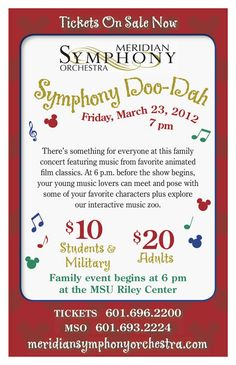 Great family concert coming up on March 23rd!