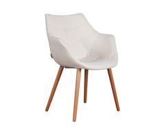 Set van 2 stoelen Eleven, wit, H 79 cm | Westwing Home & Living