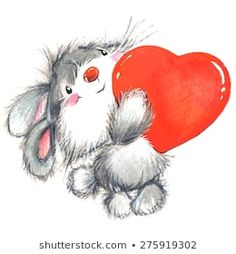 Find Cute Bunny Watercolor Illustration Valentine Day stock images in HD and millions of other royalty-free stock photos, illustrations and vectors in the Shutterstock collection. Illustration Inspiration, Cute Illustration, Watercolor Illustration, Valentines Day Drawing, Valentines Day Background, Valentine Day Cards, Valentines Illustration, Valentine Picture, Teddy Bear Pictures