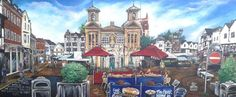 The Market Place, Kingston Upon Thames, Surrey. - Full-frontal image, unframed
