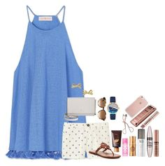 """""""Lydia's contest day 4: Belize!!"""" by pandapeeper ❤ liked on Polyvore featuring Tory Burch, Uniqlo, Kate Spade, tarte, Victoria's Secret, Benefit, Urban Decay, Maybelline, Charlotte Tilbury and NYX"""