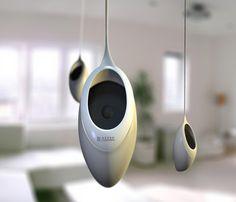 Richard Hunt's Sound Seed Ceiling Speakers Audio Design, Speaker Design, Sound Design, Modern Industrial, Industrial Design, Charles Ray Eames, Sound Speaker, Audio Speakers, Ceiling Speakers