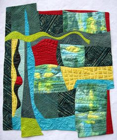 "Borderless abstract quilt 24"" x 27"""