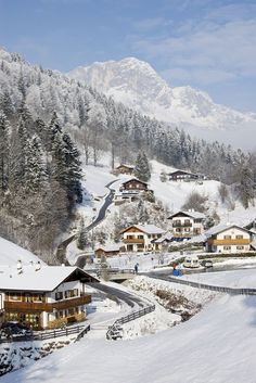 Winter in Ramsau, Germany...