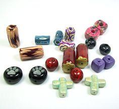 Big Sale Handmade Polymer Clay Beads  Reduced  10 by BarbiesBest, $7.50