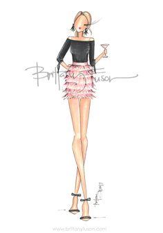 cheers | happy hour | fashion illustration | Brittany Fuson