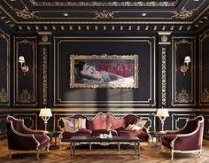Luxury House Interior Design Tips And Inspiration Luxury Home Decor, Luxury Interior Design, Interior Design Inspiration, Interior Architecture, Luxury Homes, Design Ideas, Dark Interiors, Beautiful Interiors, Classic Interior
