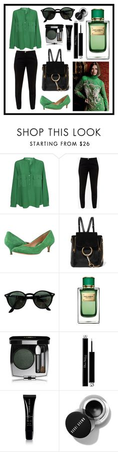 """Green set"" by dendi-piterskiy ❤ liked on Polyvore featuring STELLA McCARTNEY, Ted Baker, Vionic, Chloé, Ray-Ban, Dolce&Gabbana, David Jones, Christian Dior and Giorgio Armani"