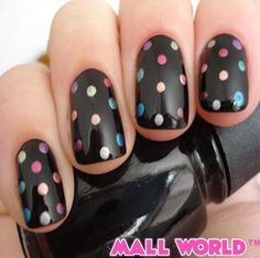 Complete your polka dot madness with some dotty nail art!