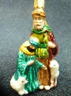 Merck Old World Christmas OWC Shepherds Glass Ornament NEW (o1969)
