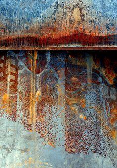 'Aleutian Nights', Gorgeous abstract landscape printed with the finest quality archival pigment inks on acid-free paper. Foto Macro, Peeling Paint, Art Japonais, Landscape Prints, Art Plastique, Textures Patterns, Mixed Media Art, Painting Inspiration, Landscape Photography