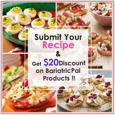 Share Your BariatricPal Products Recipe With us & Get $20 Discount on BariatricPal Products.#Share #recipe #discount #offer