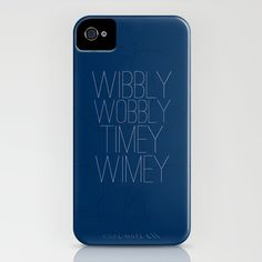 Wibbly Wobbly Timey Wimey iPhone Case.