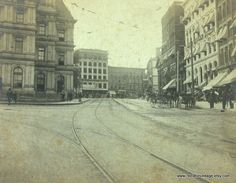 City Street Vintage B&W Photograph 1800s1900s by RedLittleVintage, $20.00