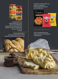 Variedad de Panes Selección Gourmet.   Chips y Snacks para la mesa de picadas. La ante sala de una buena celebración