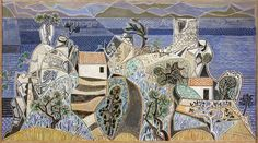 Landscape, Hydra, 1960-61 by John Craxton © Estate of John Craxton. All Rights Reserved, DACS/Artimage 2017. Image: © Arts Council Collection, Southbank Centre