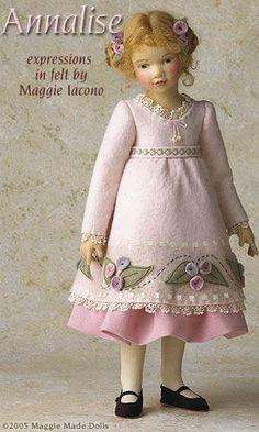 Bonecas maravilhosas de senti-artista Maggie Iacono marionetes dos Estados Unidos. - Feira Mestres - artesanal, feito à mão