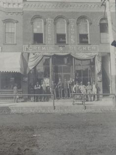 A photo courtesy of the Geneseo Republic showing the Doremus and Becker Hardware Store. Today the location is home to Village Home Stores on State Street in Geneseo, IL       VillageHomeStores.com