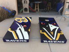 Baltimore Ravens cornhole boards I built for a customer
