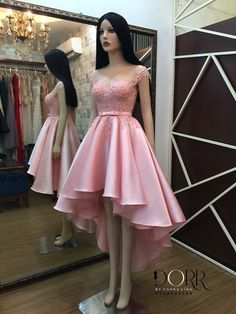 Adolecente Cute Short Dresses, High Low Prom Dresses, Pink Prom Dresses, Grad Dresses, Quinceanera Dresses, Homecoming Dresses, Dress Outfits, Evening Dresses, Formal Dresses
