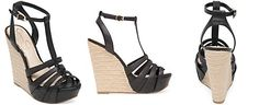 Jessica Simpson Bristol T-Strap Espadrille Platform Wedge Sandals