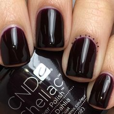 "Nadia on Instagram: ""@cndworld Shellac Dark Dahlia. I used CND Base Coat, 2 coats of Shellac Dark Dahlia, and topped off with CND Shellac Xpress5 Top Coat. Cured in the CND LED Lamp."""