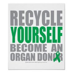 I'm a organ donor & I'm donating my body to science when I die. Why not--I wont need it anymore :)