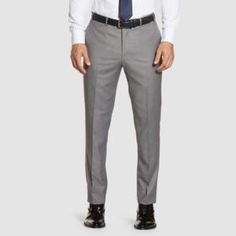 Our light grey dress pants offer comfort and style. Pair with a suit jacket and vest for the wedding day, or dress it down for your everyday office look. Grey Vest, Gray Jacket, Vest Jacket, Gray Groomsmen Suits, Light Grey Suits, Wedding Dress Organza, Grey Dress Pants, Office Looks, Shades Of Grey