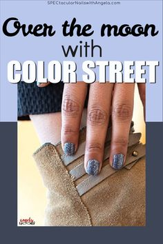 Winter is undoubtedly the best time of the year to wear cool colors. Whether you're sporting an oversized sweater, walking around in a pair of cute fabulous boots, or showing off newly painted nails, all of Color Streets cool-winter tones will make you feel extra cozy. Add a dark glamour to your nails with Moon River's moody, glittering gray. Get quick stylish nails in minutes with Color Street. #winternaildesign #colorstreetnails #prettynailartdesign