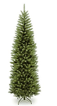 Full, yet pencil slim with dense foliage, this sleek National Tree Company Kingswood Fir Pencil Christmas Tree with add holiday cheer to entryways, smaller rooms, or porches. Fabulous straight out of the box with hinged branches for easy set-up. Black Friday Christmas Tree, Cheap Christmas Trees, Slim Artificial Christmas Trees, Pencil Christmas Tree, Pre Lit Christmas Tree, Christmas Tree Decorations, Xmas Trees, Christmas Snowflakes, Christmas Stuff