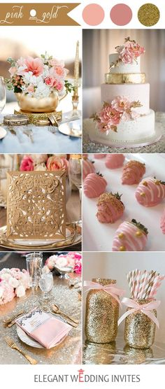 Mariage romantique, rose et doré. pink and gold wedding color ideas for 2017 Pink Wedding Colors, Pink And Gold Wedding, Wedding Flowers, Wedding Blush, Rose Wedding, Summer Colors For Wedding, Colors For Weddings, Wedding Bouquets, Wedding Dresses