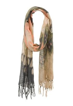 Multi pattern oblong scarf with fringe (original price, $14) available at #Maurices